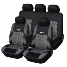 AUTOYOUTH Car Seat Covers Full Set Universal Fit Seat Protectors Fashion Car Accessories Tire Tracks Car-Styling Gray/Black