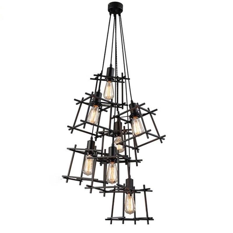 American Style Pendant Lights Industrial Restaurant Lamps Pendant Retro Decorative Lighting light Vintage Living Room Lamp<br>