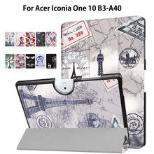 Case For Acer Iconia One 10 B3-A40 Slim Stand Smart Cover For Acer Iconia One 10 B3 A40 10.1 inch Funda Tablet PU Leather Shell(China)
