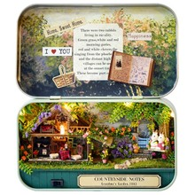 Funny Countryside Notes 3D Wooden DIY Handmade Box Theatre Dollhouse Miniature Box Cute Mini Doll House Assemble Kits Gift Toys(China)