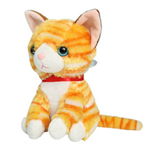 15cm 6'' Super Cute Soft Cat Plush Toy Big Eyes Anime Stuffed Animals with Gig Eyes Birthday Gifts Toys for Children Girls Kids(China)