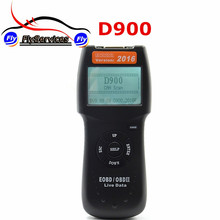 High Quality D900 EOBD OBD2 Scanner Car's Engine D900 Code Reader Diagnostic Tool For Multi-brand Cars 2016 Verison