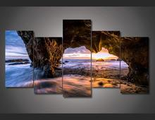 Cheap 5 panel large HD printed oil painting matador stat beach canvas art print home decor wall art picture for living roomF0472