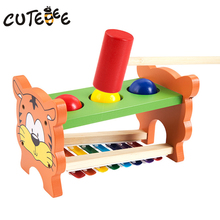CUTEBEE Wooden Toy Musical Instrument Montessori Educational Toys for Children Piano Knock Tables Music Kids Toy