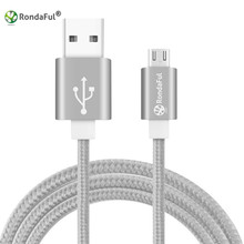 Rondaful Original Nylon Braided USB Data Charging Cable for Samsung Galaxy S7 S6 S5 S4 Note 4 3 HTC Sony Android Sync Cable Cord