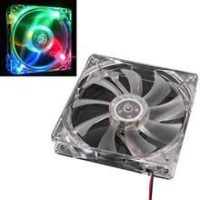 Colorful LED Light Neon Clear Radiator 2017 Hot-sale 120mm PC Computer Case Fans Cooling Mod Nov29(China)
