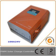 100A 24V Solar Charge Controller, Regulator with RS232 interface for Communication, equipped with LCD display, approved CE,ROSH