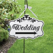Creative Wooden Printed Wedding Right Arrow Direction Sign Wedding Reception Decor Hanging Plaque Board L50