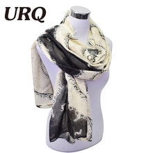 [URQ] Fashion Brand Designer Scarves Extra long  big Scarf Women soft touch cotton Scarfs Muslim Hijab scarf V9A18478