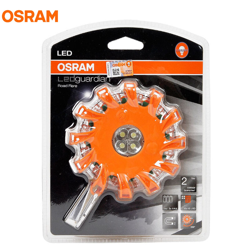 OSRAM LEDGuardian Road Flare Lamp High Power Warning Light Flashlight for Visibility Safety in Emergency Situations LEDSL302<br>