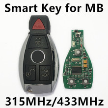 Smart Remote Car Key with NEC BGA For Mercedes Benz year 2000+ 315MHz 4 Buttons Keyless Entry Fob