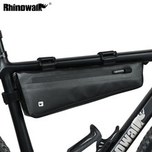 Buy Rhinowalk Bike Triangle Frame Bag Full Waterproof Front Tube Cycling Bag 2.8L Road MTB Foldable Bike Storage Tool Panniers for $23.98 in AliExpress store