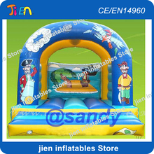 Free air ship to door,Pirate inflatable bouncer bouncer house,kids inflatable jumping jumper bed(China)