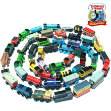 Thomas & His Friends-New Wooden Trains Anime Model Manetic Train Toys for Children Kids Gifts Spencer Edward Gordon James Percy(China)