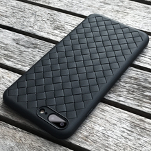 Cases For Apple iPhone 7 8 Leather TPU Silicone Ultra thin Retro Weave Designed Smooth Touch Sleeve Cover for iPhone 8 Case