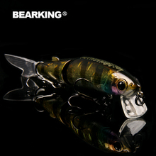 Bearking brand 1PCS Minnow Fishing Lure Laser Hard Artificial Bait 3D Eyes 11.3cm 13.7g Fishing Wobblers Crankbait Minnows