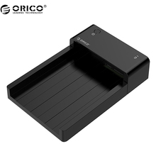 "ORICO 6518SUS3 Tool Free USB 3.0 & eSATA 2.5"" & 3.5""SATA Hard Disk Drive Docking Station for 2.5 inch and 3.5 inch HDD-Black(China)"