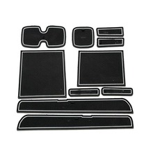 Dongzhen car Non-Slip Interior cup cushion Door Mat covers Cup Mat stickers Fit For SUZUKI Swift 2005 to 2016 Door Groove Mat