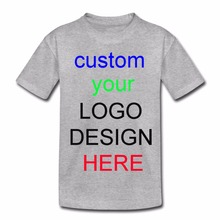 2018 child Advertising girls tshirt short sleeve blank tees OEM Custom Printed children boys T-Shirts designer logo kid t shirt(China)