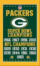 Green Bay Packers super bowl champions Vertical Flag NFL 3X5FT Banner 100D Polyester brass grommets custom, free shipping(China)