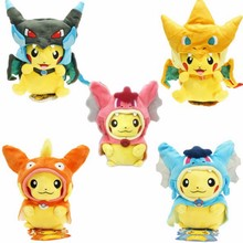 7 Kinds Option Baby Plush toys Pikachu Cosplay Mega Charizard gyrados Stuffed Animal Dolls Children Toys kids As Gift(China)