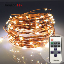 50x Wholesale discount price 10m 100 dimmable led ultra thin copper wire fairy starry string lights+adapter+RF control