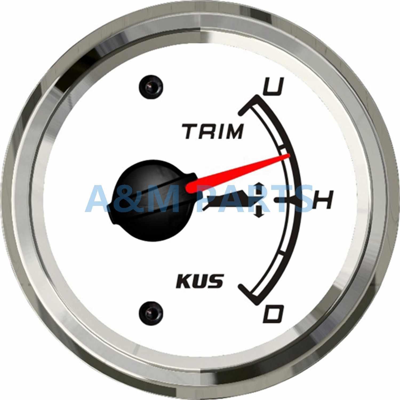 Universal KUS Boat Trim Gauge Marine Trim Tilt Indicator for ... on
