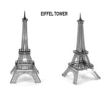 Eiffel Tower 3D Metallic Puzzle Metal Assembly Model Educational Jigsaw Toy Good Birthday Festival Gift