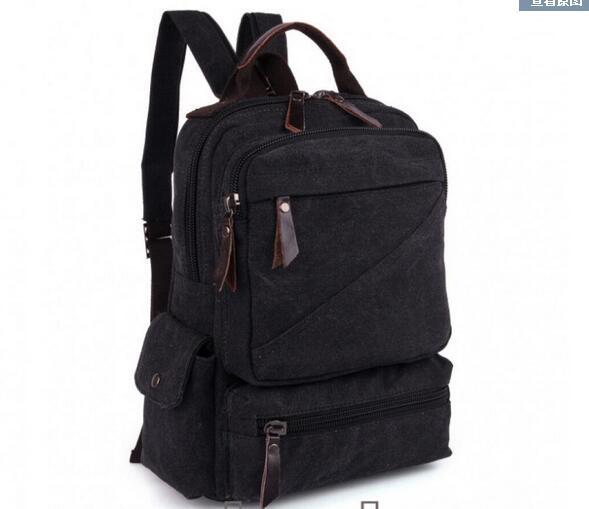 2017 new shoulder bag backpack dual purpose package men and women universal student package 0392 black<br>