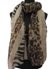 Leopard Zebra Stripe and Union Jack Print Women's Scarf Shawl, Free Shipping