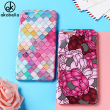 AKABEILA Plastic Phone Cases for Apple iPhone 6 6S Plus Cover iPhone6 iPhone6S Plus 5.5 inch Case Decal DIY Painted Bag Skin(China)