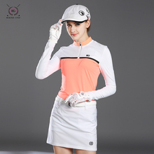 Golf Shirt Woman Quick Dry Long sleeves Outdoor Sports Golf T Shirts 2018 New Brand Golf Polo shirts for Lady(China)