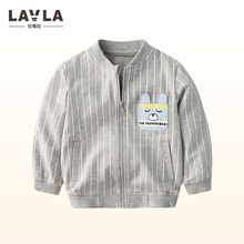 LAVLA 2017 Autumn New Baby Girls Clothes Childrens Clothing Kids Boys Coat Casual  Outwear Baseball Jacket Striped School Sports