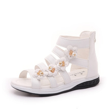 Buy COZULMA Summer Girls Sandals Kids Beach Shoes Children Roman Pearl Flower Sandals Girls Princess Gladiator Shoes Size 27-37 for $10.83 in AliExpress store