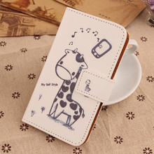 Exyuan Cartoon Pattern Cell Phone Cover Flip PU Leather Case For Digma First XS350 2G