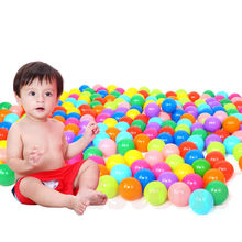 200pcs Eco-Friendly Colorful Ball Soft Plastic Ocean Ball Funny Baby Kid Swim Pit Toy Water Pool Ocean Wave Ball #T026#(China)