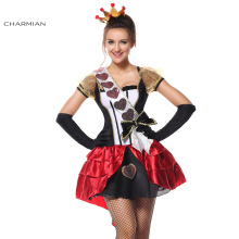 Charmian Halloween Costume for women Deluxe Royal Red Queen Anime Cosplay Carnival Party Dress Costume(China)
