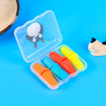 4Pairs Soft Foam Ear Plugs Travel Sleep Noise Prevention Earplugs Noise Reduction For Travel Sleeping Cartoon Health Boxed