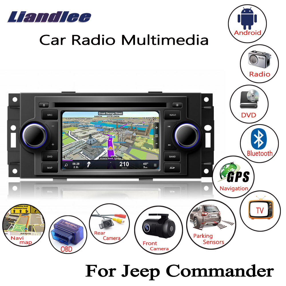 Liandlee For Jeep Commander 2006~2008 Android Car Radio CD DVD Player GPS Navi Navigation Maps Camera OBD TV HD screen Multimedia1