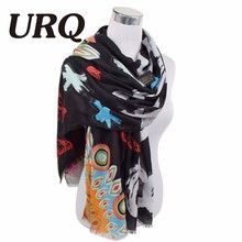 letter tassel scarf for women Autumn Winter Woman Long Cotton Scarf Scarves Foulard large shawl lady New Design Brand Luxury