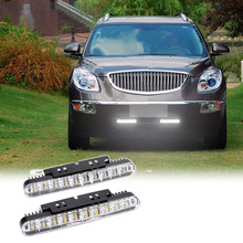 2pcs 30LEDs Car Daytime Running Light DRL Daylight Lamp with Turn Signal Indicators Lights