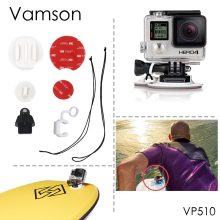 Vamson for GoPro Accessories Tether Kit Surfboard Set Snowboarding Mount Surf Pack for Gopro Hero 4 3+ 2 Xiaomi yi 4K Kit VP510
