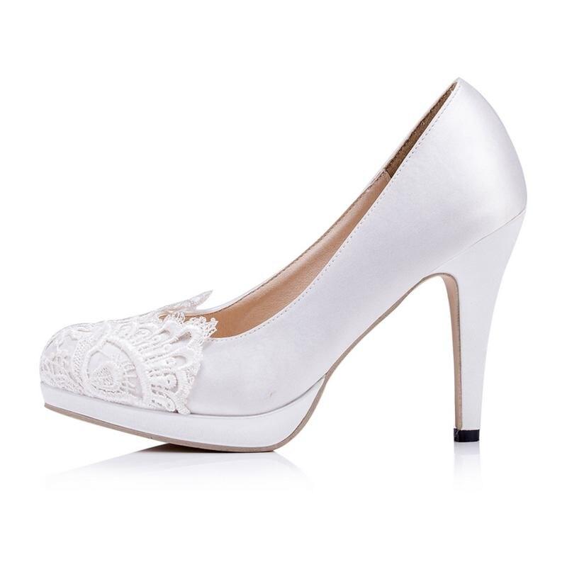 Lace  Flower  Wedding Shoes   Petal  Party  Shoes  High Heels  Bridal Shoes Platform Size  EU34-41  J614<br><br>Aliexpress
