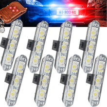 Best Quality 8x3/led Wireless Remote Controlled Ambulance Police light Car Truck Emergency DC 12V Strobe Warning Light Wholesale