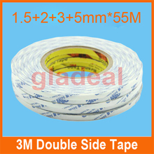 1.5mm+2mm+3mm+5mm*50m 3M Double Side White Adhesive Tape for Touch Screen /Display /Housing /Case /Cable Sticky LCD Repair Tool(China)