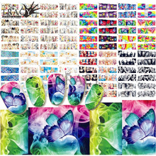 60 Design/Lot Nail Stickers Flower Art Water Decals Girl Set Full Wrap Tips Nails Beauty Care Towers Manicure TRBN121-180(China)