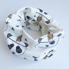 Cotton Baby Scarf Tiger Panda Tent Design Printing Kids Scarves Winter Children Collars Boys Girls Animal O Ring Neckerchief