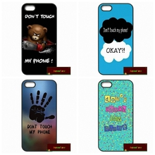 """Dont touch my phone"" Cell Phone Cover case for iphone 4 4s 5 5s 5c 6 6s plus samsung galaxy S3 S4 mini S5 S6 Note 2 3 4 DE0416(China)"