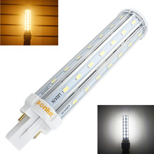 Bombillas LED G24 2-Pin Base Corn Light Bulb 110V 220V 13W G24 PLC Lamp Horizontal Plug Light with 30W CFL Replacement