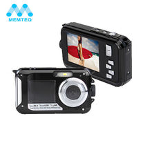 MEMTEQ 24MP 16XZoom HD 1080P 2.7 inch TFT 2-Screen Digital Camera Waterproof FULL HD Digital Camera Camcorder(China)
